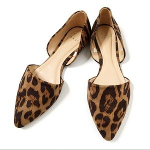 A New Day Leopard Print D'Orsay Pointed Toe Flat